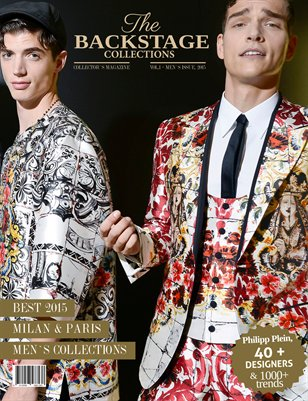 Backstage Collections Magazine- Vol.1-Men`s Issue