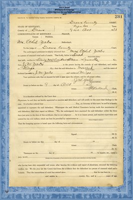 1923 State of Kentucky vs. Mrs. Ethel Yates, Graves County, Kentucky