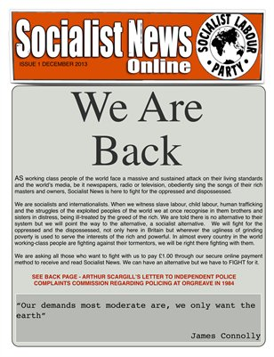 Socialist News Issue 1