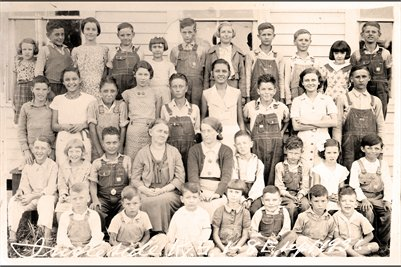 Ingleside School, Grades 1-8, Sept. 1936, Ballard County, Kentucky