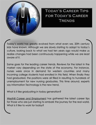 Today's Career Tips for Today's Career Trends