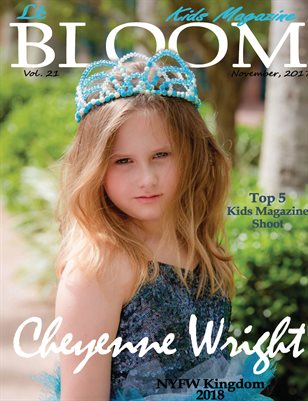 Le Bloom Kids Magazine Cheyenne Wright