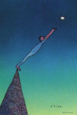 Man Reaching For A Star