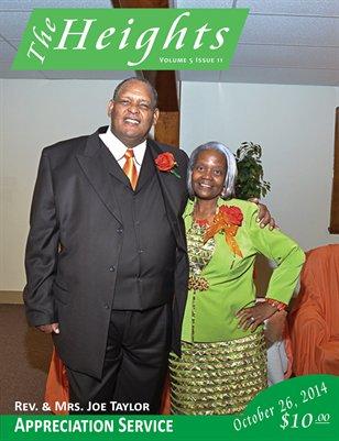 Volume 5 Issue 11- Rev. & Mrs. Joe Taylor Appreciation Service