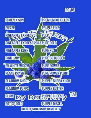 Book Of Strains by D    | Book Of Strains By Dank Nity