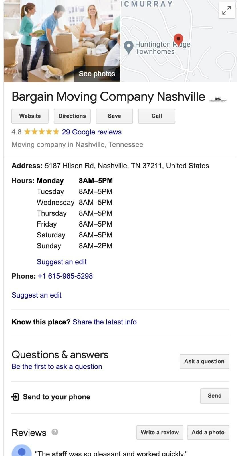google maps for services businesses