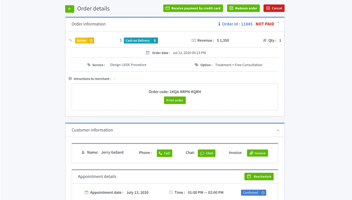 Order Manager Dashboard