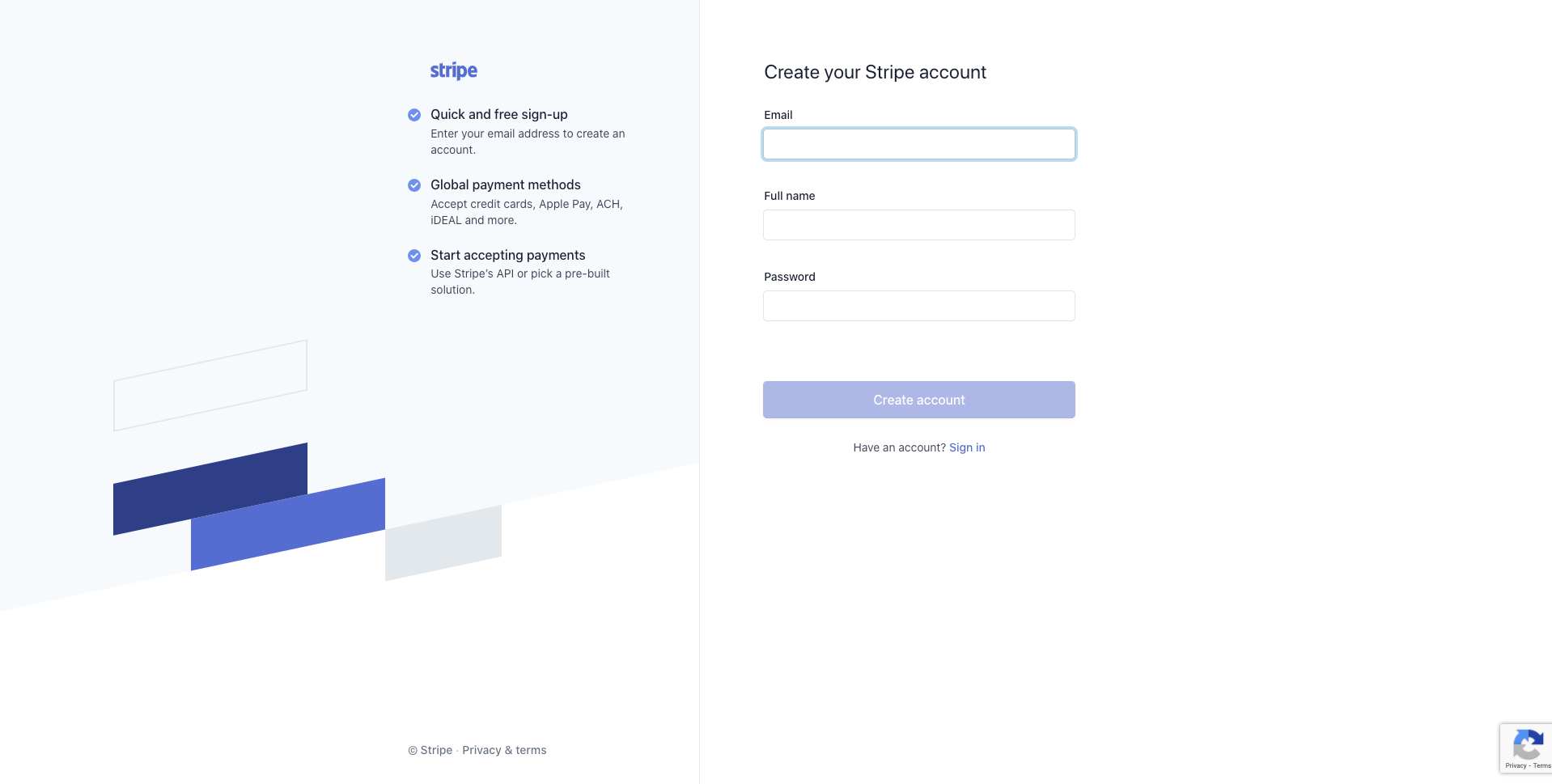 Register With Stripe