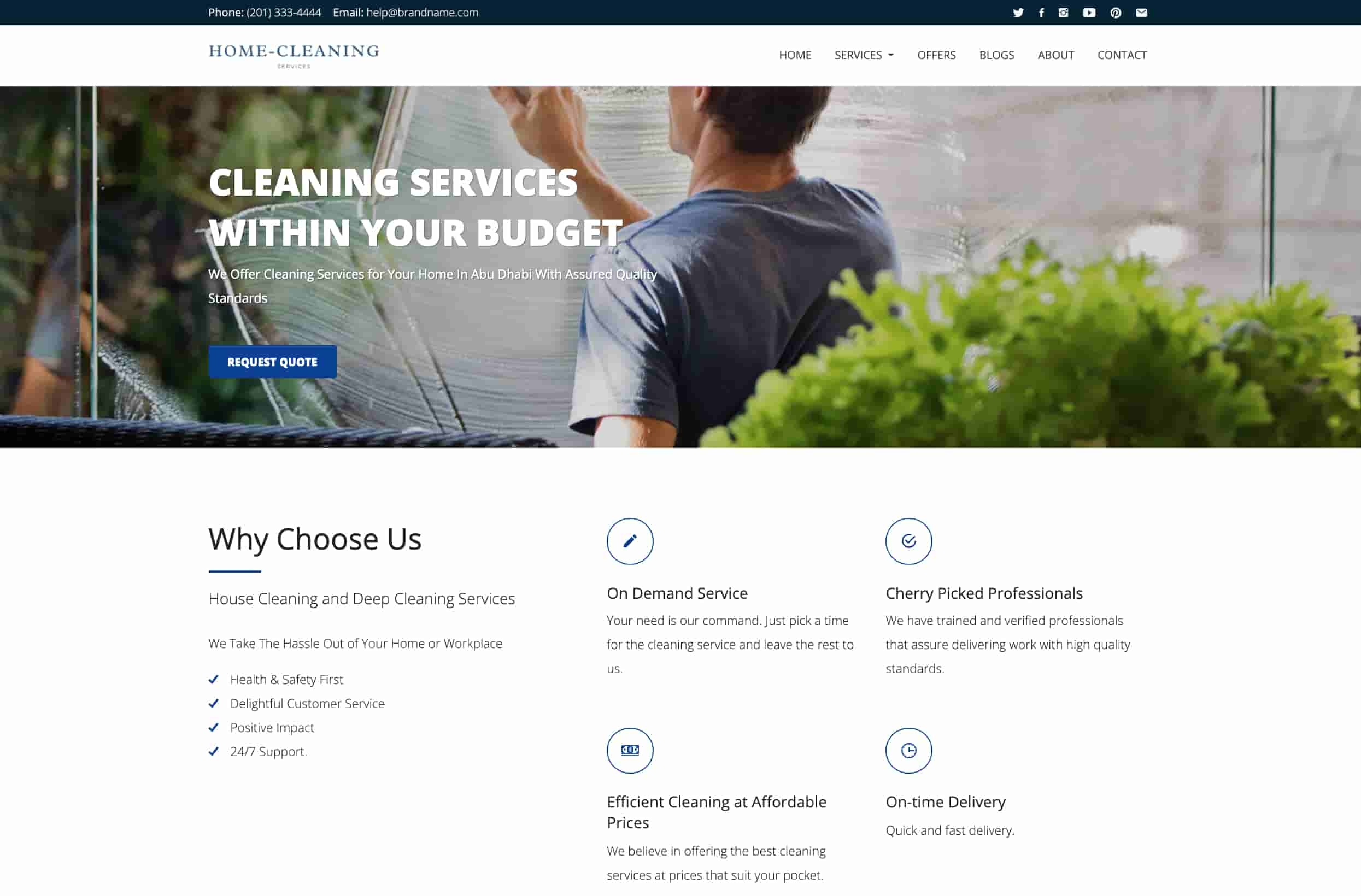 Cleaning Company Website Theme
