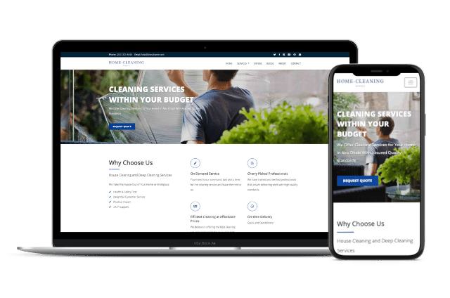 Cleaning Website Templates