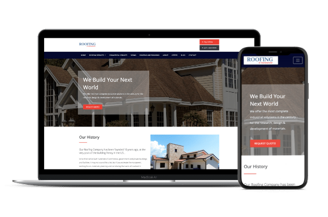 Roofing Website Templates
