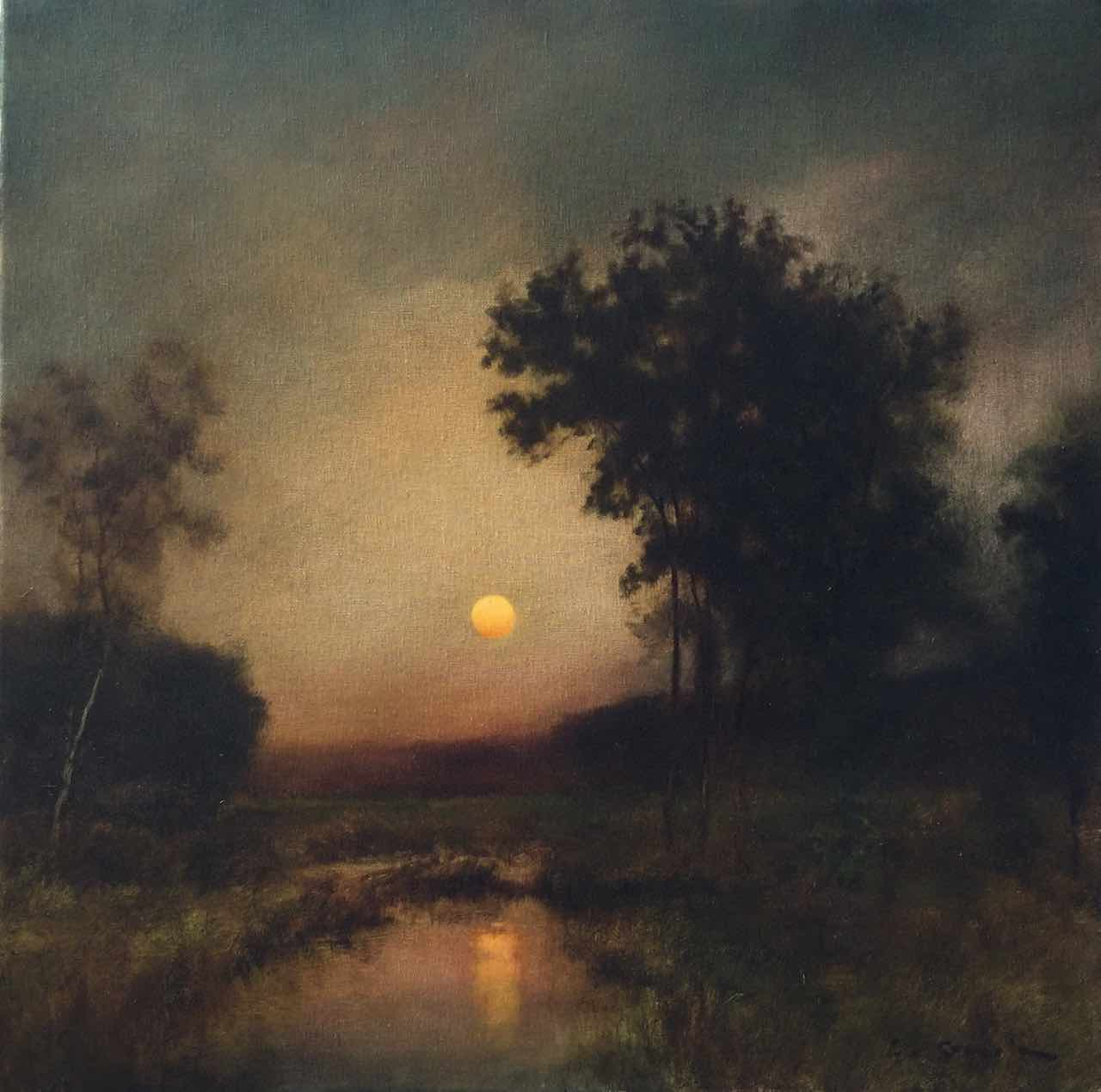 Moonrise Over Marshes
