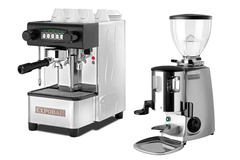 Expobar office control and mazzer mini silver