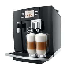 The Jura Giga 5 espresso machine in black.