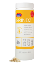 Urnex Grindz grinder cleaner, now in 15.2oz bottle.