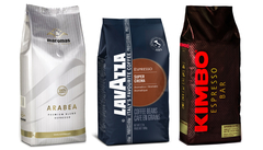 Lavazza Super Crema, Kimbo Superior and Maromas Arabea.