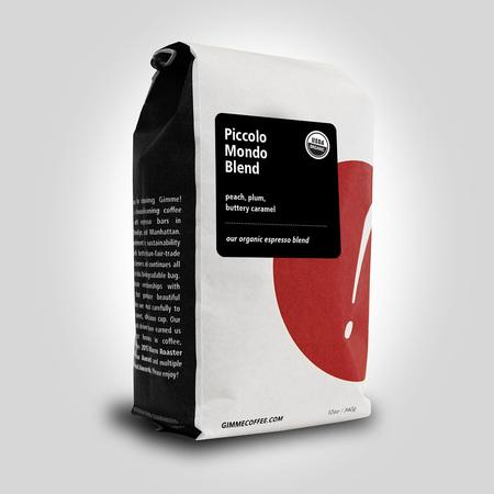 Gimme! Coffee Piccolo Mondo Organic Espresso Blend