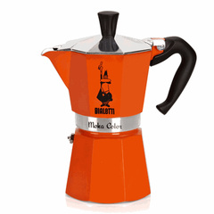 Bialetti Moka Express Moka Color Stovetop Coffeemaker in Orange