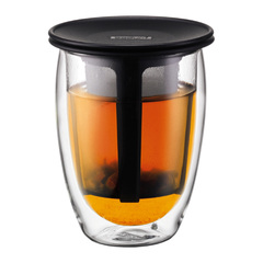 Bodum 12oz tea for one with strainer black