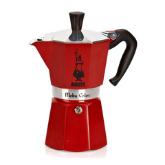 Bialetti Moka Express Moka Color Stovetop Coffeemaker in Red