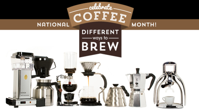 National coffee month a different way to brew