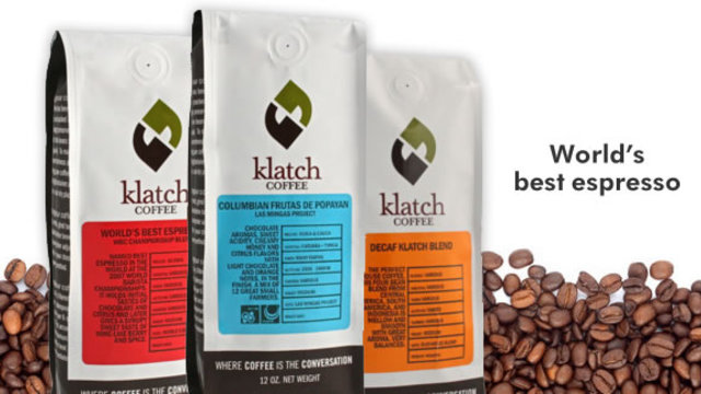 Klatch coffee brand slide