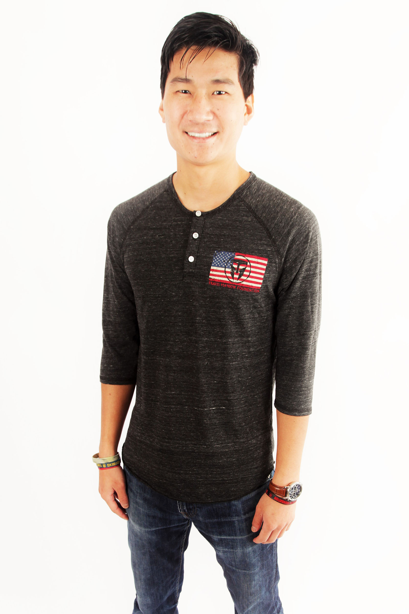 Travis Manion Foundation Mens American Henley