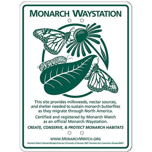 Monarch Watch Waystation Certification Sign