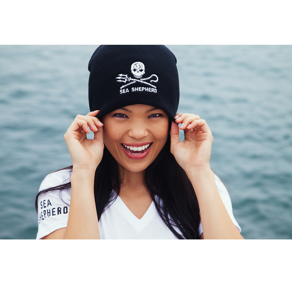 Sea Shepherd Jolly Roger Beanie - 100% Organic Cotton