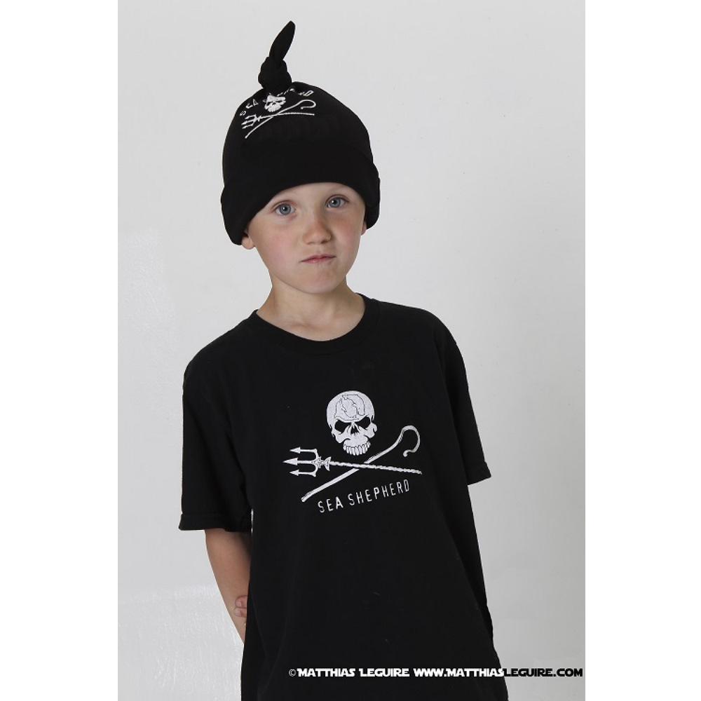 Sea Shepherd Jolly Roger Kids Short-Sleeve T-Shirt - 100% Organic Cotton