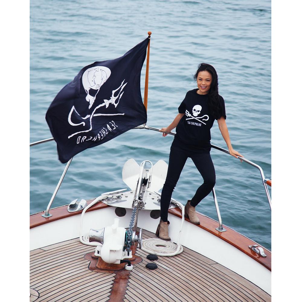 jolly roger marine flag 2 39 x 3 39 160011 sea shepherd. Black Bedroom Furniture Sets. Home Design Ideas