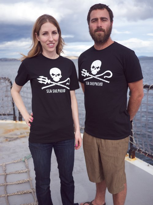Sea Shepherd Jolly Roger Short Sleeve T-shirt - 100% Organic