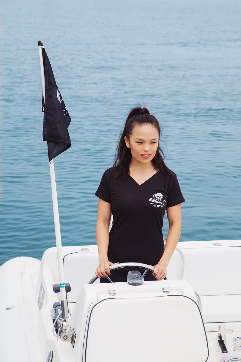 Women's Jolly Roger Dive V-Neck Short Sleeve Tee - 100% Organic Cotton
