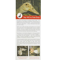 Say NO to Foie Gras Leaflet