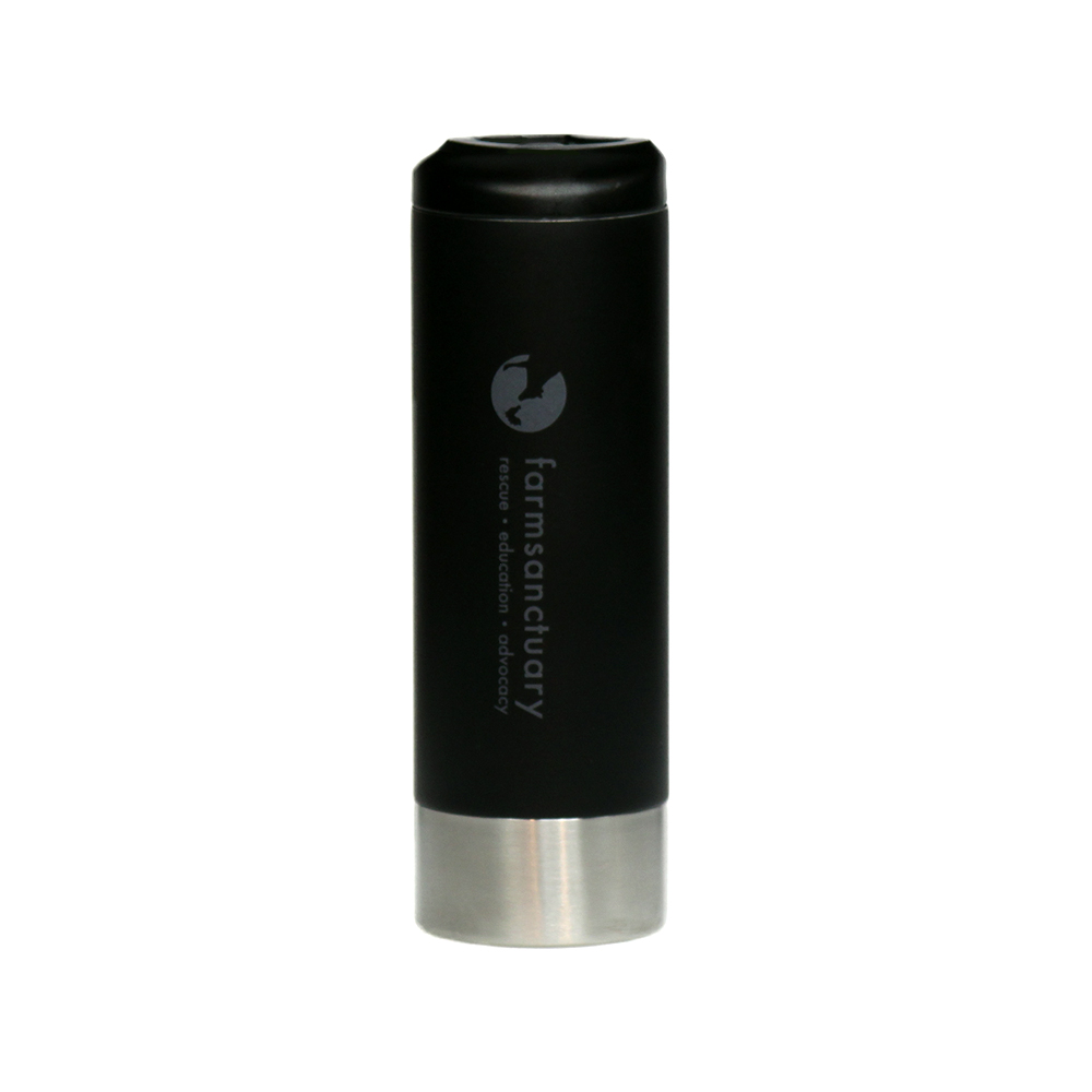 Farm Sanctuary's Matte Stainless Steel Logo Travel Mug
