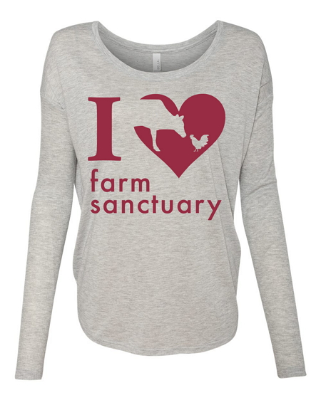 Heart Long Sleeve Ladies Tee