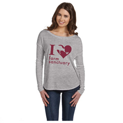 I Heart Farm Sanctuary Long Sleeve T-shirt