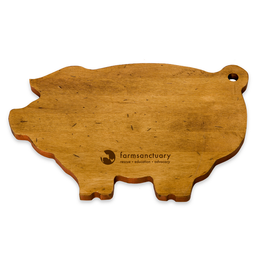Farm Sanctuary Pig-Shaped Serving Board