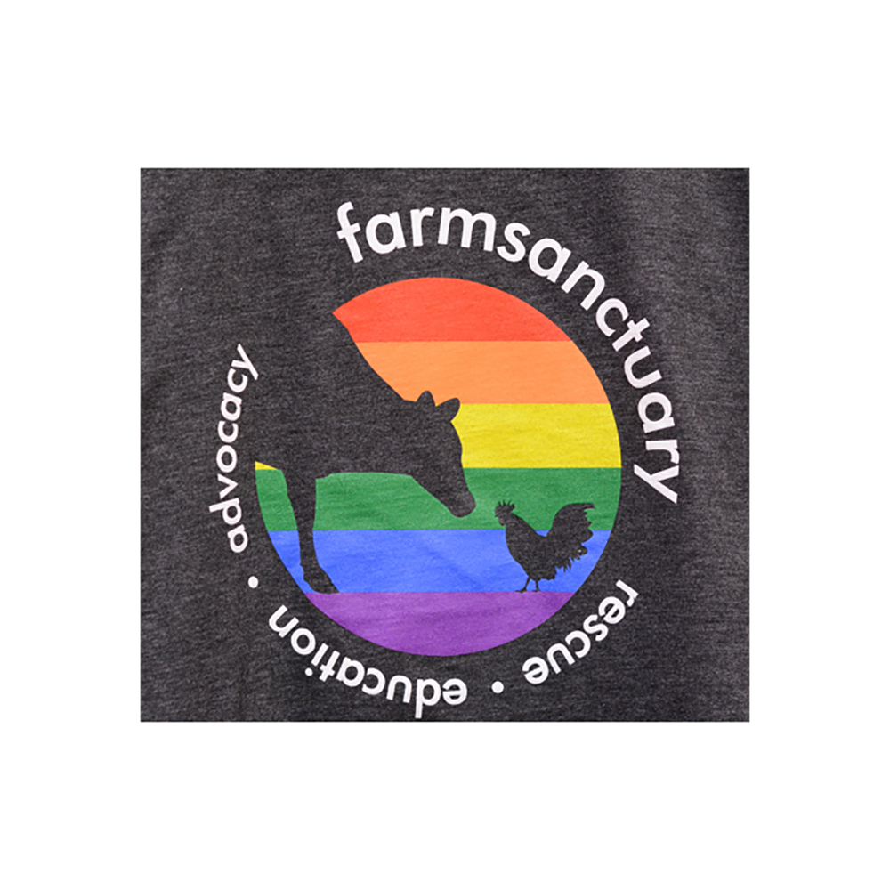 Farm Sanctuary Rainbow Logo Tee
