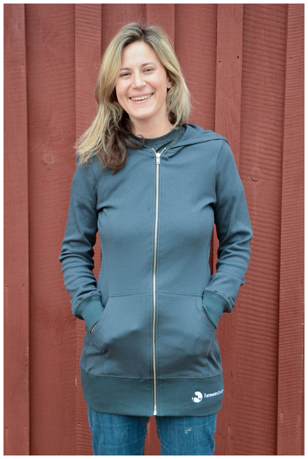 Farm Sanctuary Gray Long Zip Hoodie