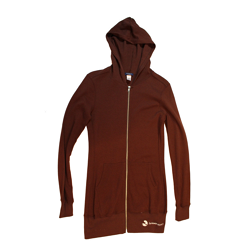 Farm Sanctuary Brown Long Zip Hoodie