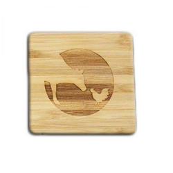 Farm Sanctuary Logo Bamboo Coasters