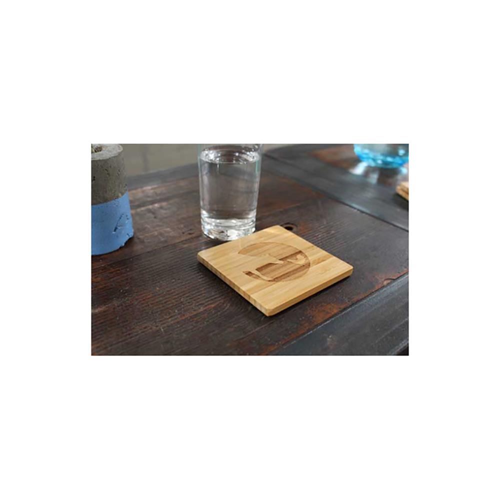 Farm Sanctuary Logo Bamboo Coasters