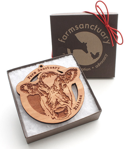 Farm Sanctuary Blitzen Holiday Ornament