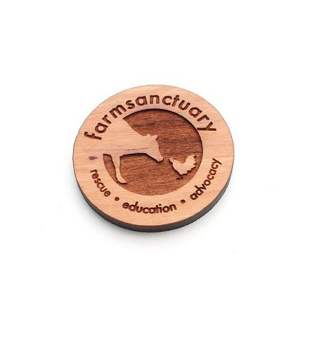 Farm Sanctuary Wooden Logo Magnet
