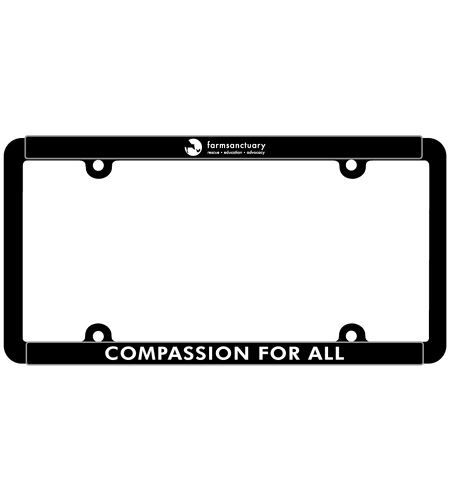 Farm Sanctuary Compassion for All License Plate Frame