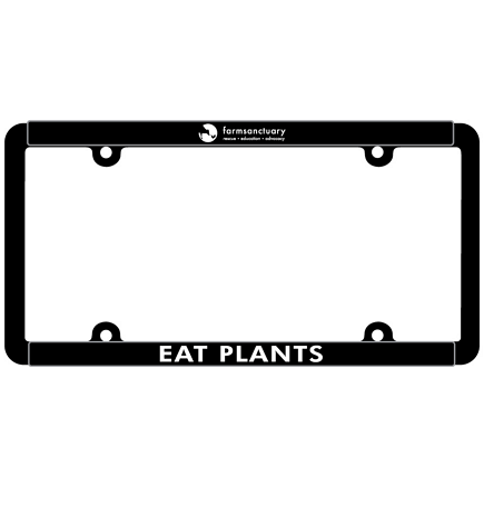 Farm Sanctuary License Plate Frame- Compassion- Eat Plants