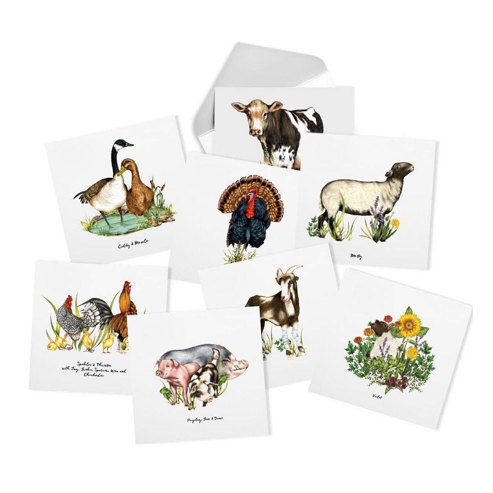 Do Unto Animals Notecards by Tracey Stewart and Farm Sanctuary