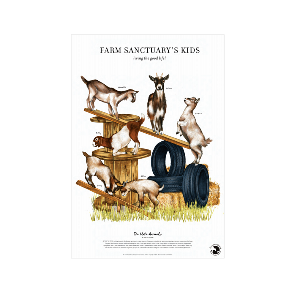 Farm Sanctuary's Kids Poster Print by Tracey Stewart