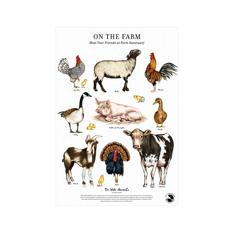 On the Farm Poster Print from Tracey Stewart and Farm Sanctuary